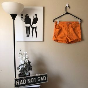 🌸Faded Glory Bright Orange Shorts